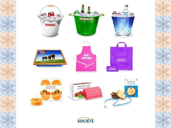 Reklamní kbelíky na led