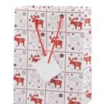 Papírová vánoční taška se soby