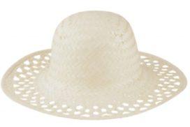 Dámský slaměný klobouk, dodává se bez stuhy.