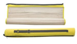 Slaměná podložka s bavlněnou kapsou na zip a obalem.