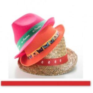 Barevná stuha ke kloboukům.