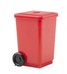 Plastové ořezávátko ve tvaru odpadkového koše