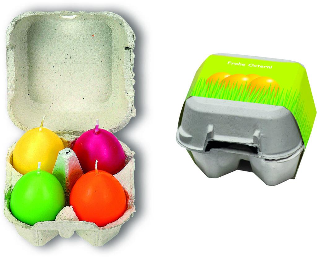 4 svíčky ve tvaru vajíčka
