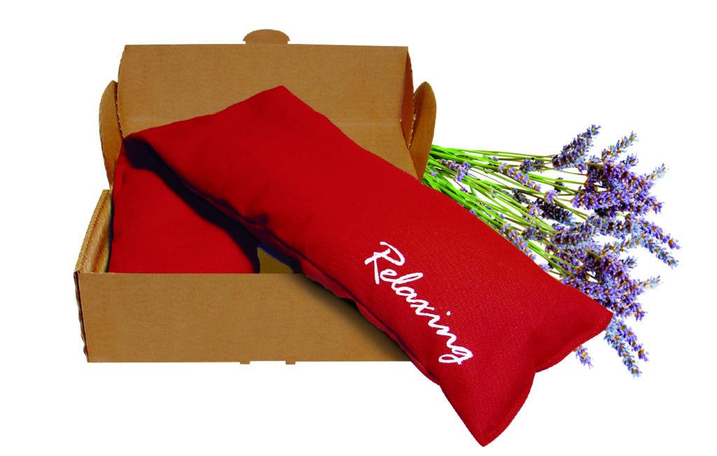 Dárková krabička s levandulovým polštářkem