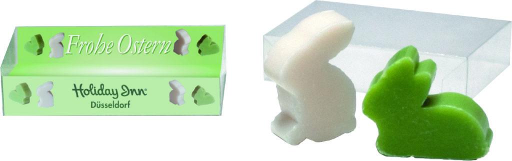 Dárková krabička s mýdlovými zajíčky
