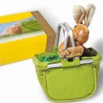 Velikonoční košík s magnetickým plyšovým zajíčkem