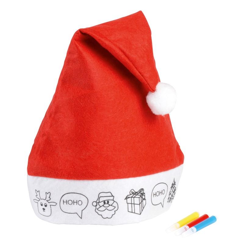 Plstěná vánoční čepice