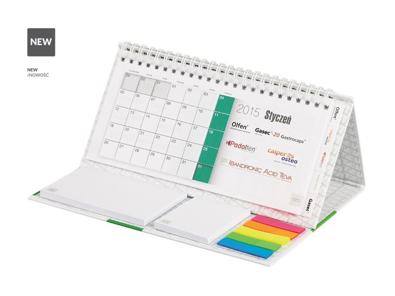 Stolní kalendář s poznámkovým blokem a sadou indexů