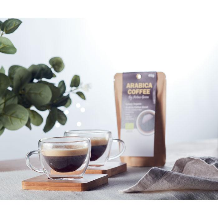 Dvoustěnné espresso šálky