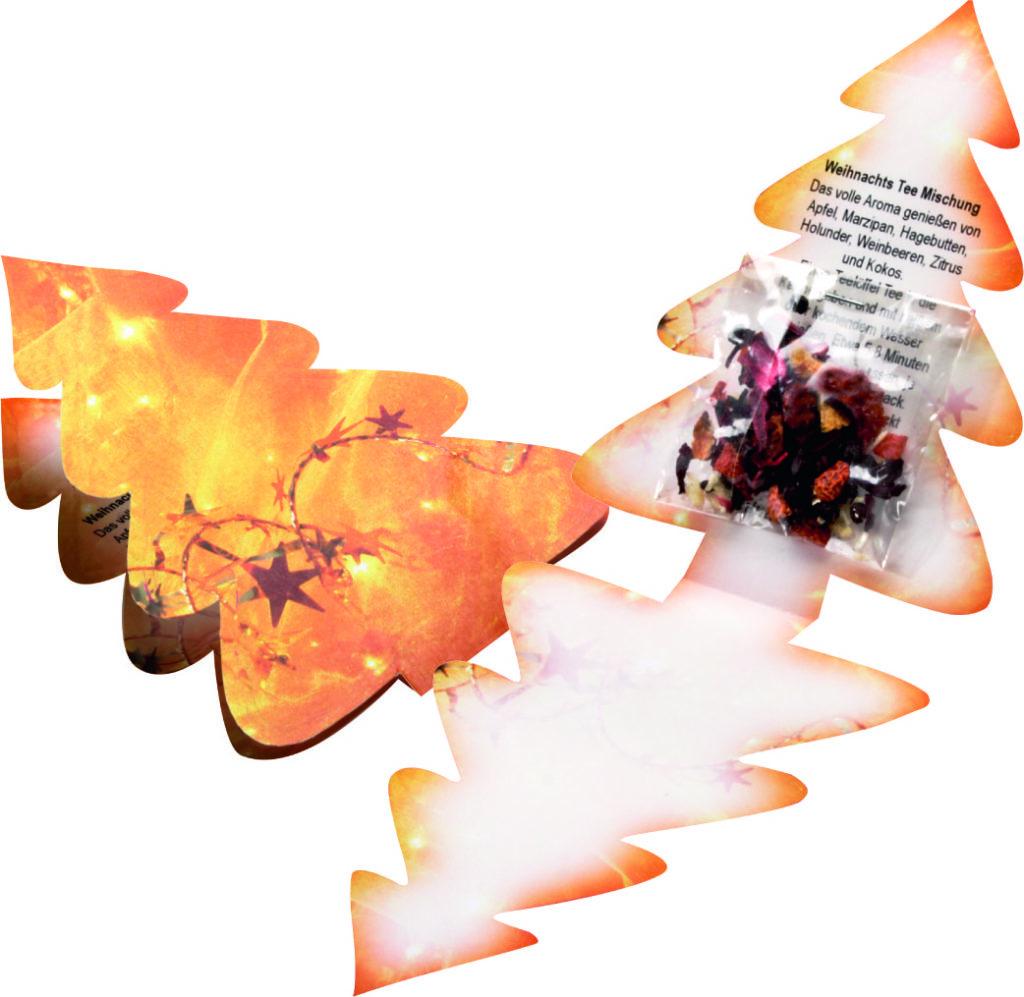 Skládaná kartička - vánoční stromeček