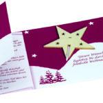 Vánoční přání s hvězdou