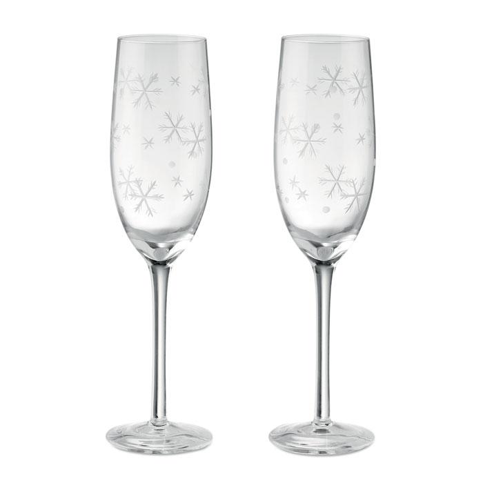 Set dvou skleniček na sekt
