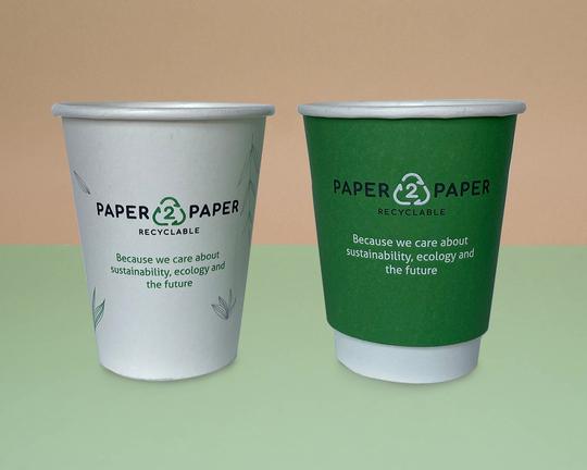 Paper2Paper papírový kelímek s potiskem