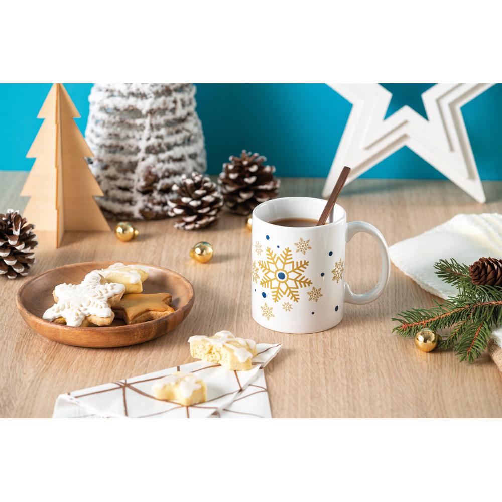 Keramický hrnek s vánoční dekorací