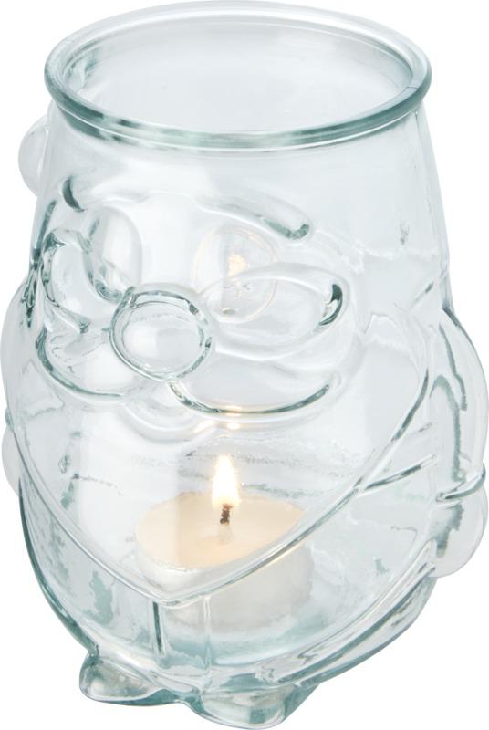 Svícen na čajovou svíčku z recyklovaného skla