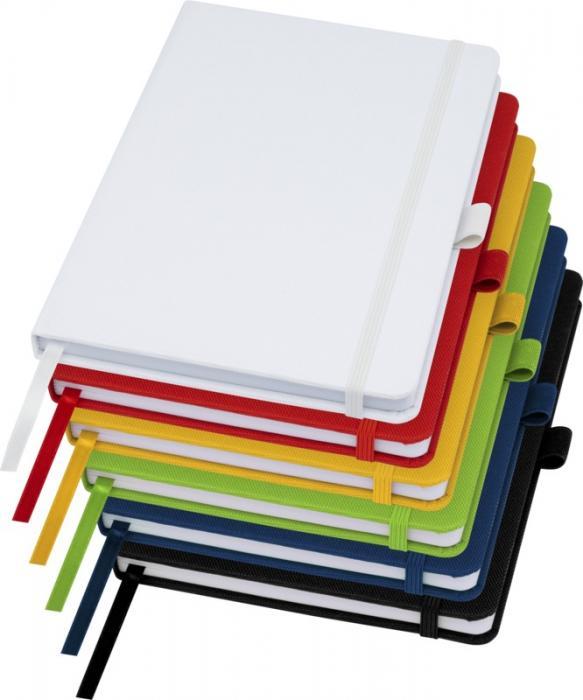 Zápisník A5 z recyklovaného papíru s obálkou z recyklovaného PET